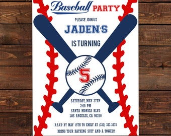 Baseball Invitation Etsy
