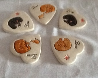 Cat and mouse coasters