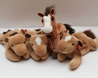 Vintage TY Beanie Baby Horses Collectibles RTS