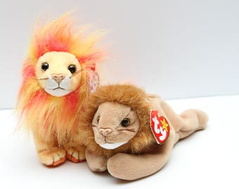 Vintage TY Beanie Baby Lions Collectibles RTS