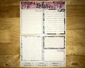 A Secret Garden Notes Page Kit Vertical & Horizontal Planner Stickers for Erin Condren LifePlanners