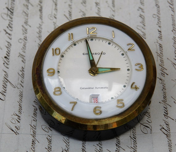 Unique Art Deco Style German Chambord Bedside Clock Chambord