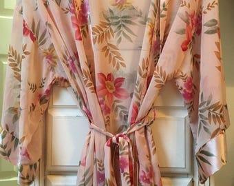 Vintage Floral Sheer Robe