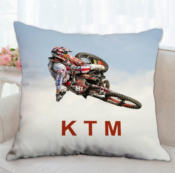Ktm throw pillow customized ktm supercross throw pillow for Decoration ktm