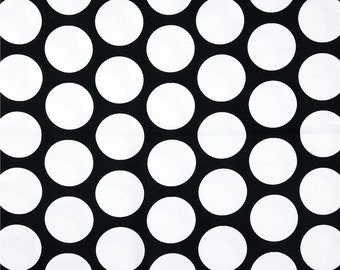 Premier Prints Fabric | Dandie Dot Fabric | Designer Fabric | Upholstery Fabric | black fabric | Fabric by the yard | polka dot fabric