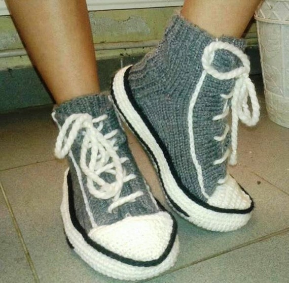 Crochet Converse Slippers Crochet Converse Knitted Converse