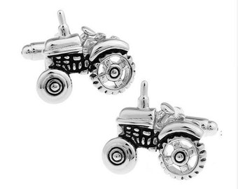 Farm Tractor Cufflinks-k142 Free Gift Box***