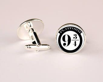 Harry Potter 9 and 3/4 Time Cufflink -k161