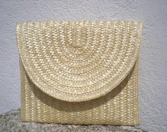 Straw Clutch, Summer purse, handmade purse, bohemian clutch