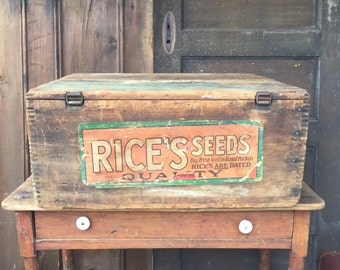 Large Antique Seed Box