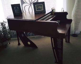 Baby Grand Piano Desk from Schiller