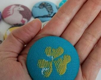 Wrap Scrap Magnet - Large Magnet - Wrap Scrap - Babywearing - Magnet - Natibaby - Find Your Luck - Clover - Shamrock