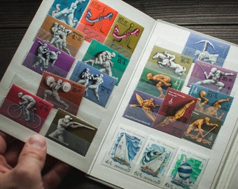 Rare! Set of 43 post stamps Olympic games, Moscow stamps, ussr stamps, soviet post stamps made in USSR