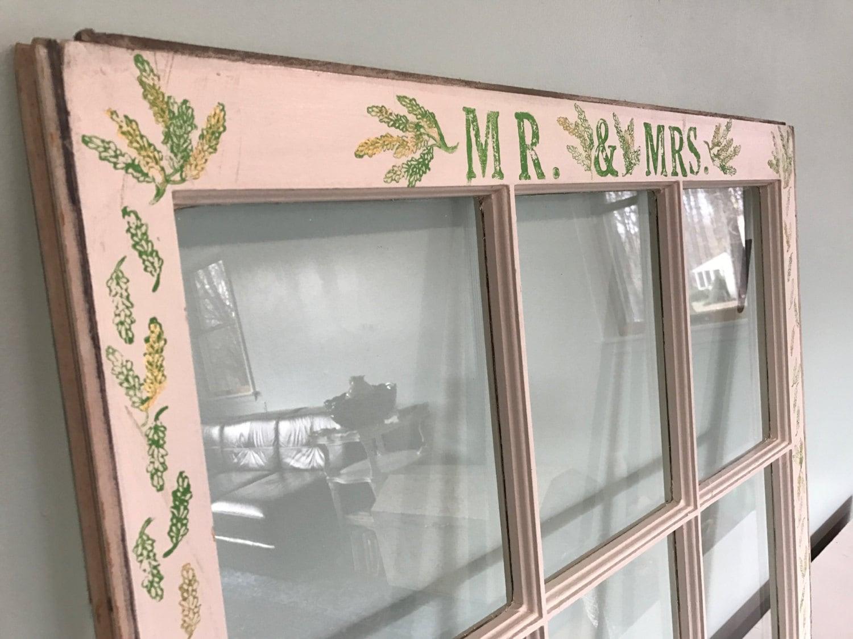 Wedding Window Pane / Frame / Vintage / Old / Decor / Rustic / Bohemian / Wall Art / Decorative / Eco / Salvaged / Upcycled