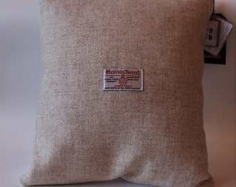 Harris Tweed Oatmeal Cushion (cushion included)