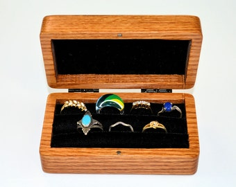 Oak ring storage box