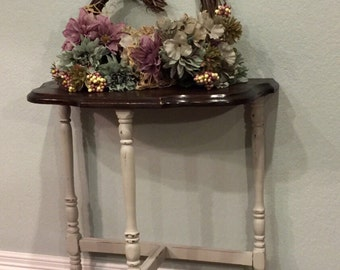 SOLD - Beautifully aged vintage early 1900's entry table/side table.