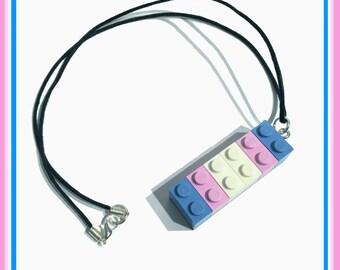 Transgender Brick Necklace