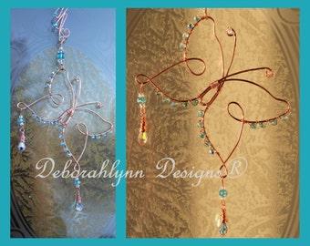 Butterfly Suncatcher, Wire Butterly Lover,  crystal Sunjewel, Wire Butterfly, Sunjewel, Window suncatcher, Window Decoration