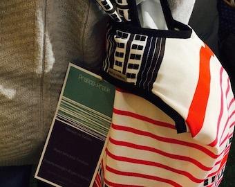 Eco-friendly bag/beach bag / sack races/grocerybag/beachbag/pink/red/pink/red/waterproof/giftforher/japanese bag/shoulder bag.