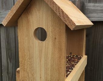 Cedar Birdhouse Feeder