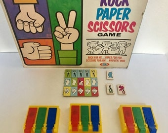 Vintage Rock Paper Scissors Game by Ideal / 1967 board game