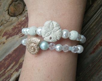 Delicate Seashell Beaded Elegant Bracelet