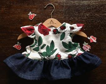 peplum top - peplum shirt - baby top - baby romper - toddler peplum - roses peplum - valentines top -