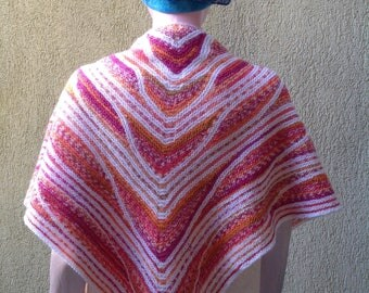 Scarf, Cowl, knitted scarf, triangular cowl, knit scarf, triangle scarf, triangle cowl