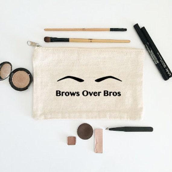 Canvas Cosmetic Bag: Brows Over Bros - Makeup Bag
