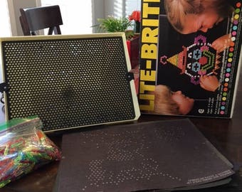 Vintage Lite-Brite In Original Box With All Accessories 1980's