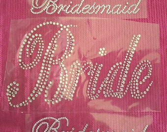 Bride Rhinestones Iron-on Applique