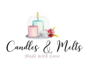 candle logo design etsy