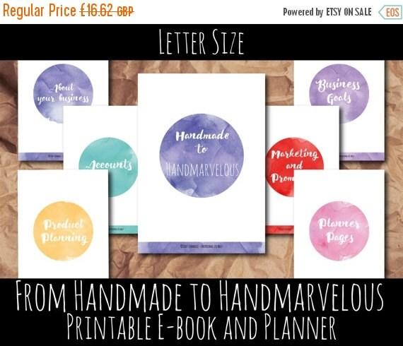 Business planner, handmade business, Etsy Planner, Etsy Business, Printable planner, Small business, Etsy shop, shop planner, Letter Size