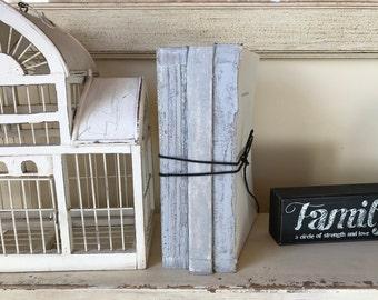 Gray Books, Minimalist Decor, Farmhouse Decor, Vintage Nursery, French Country, Decorative Books, Twine, Uncovered Books, Light Gray Books