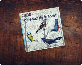 45 t - french - birds of the forest - vintage Vinyl record