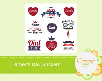 Father's Day Stickers, Father's Day Planner Stickers, Best Dad Ever, Dad Stickers, Dad Planner Stickers
