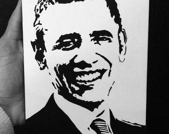 Obama Scratch Art