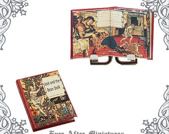 JACK and the BEANSTALK Dollhouse Miniature Book – 1:12 Jack and Beanstalk Fairy Tale Miniature Book - Fairytale Book Printable DOWNLOAD