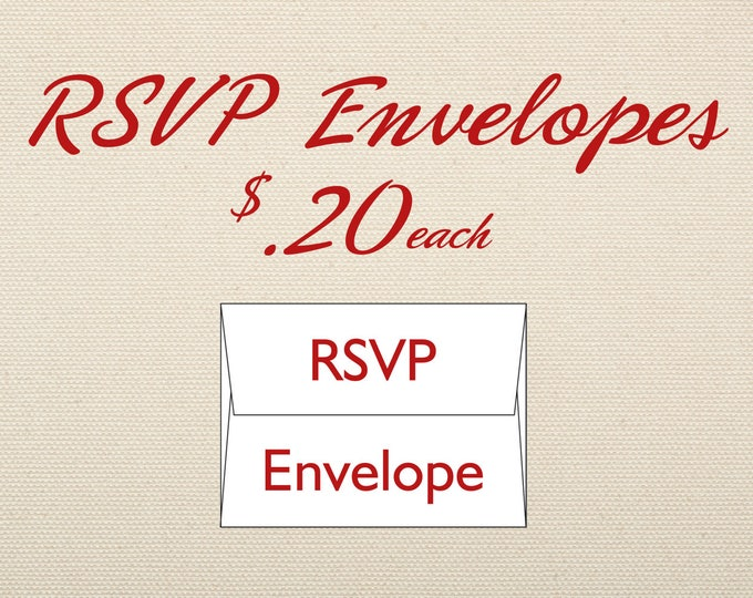 RSVP Envelope Add-on for RSVP in wedding invite