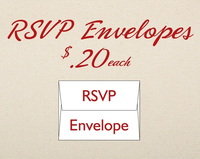 RSVP Envelope Add-on for RSVP in wedding invite