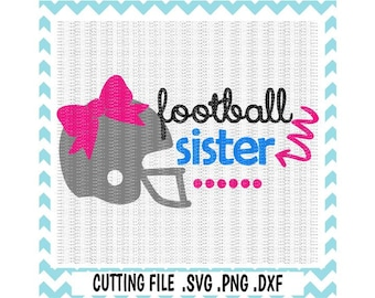 Football Svg, Football Sister, Football Bow, Football Helmet, Svg-Dxf-Png, Cutting Files For Silhouette Cameo & Cricut, Svg Download.