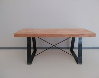Custom-made industrial style table.