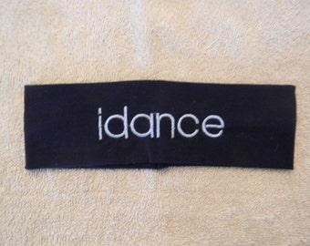 Custom embroidered idance head band