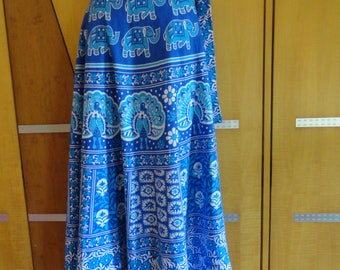 Indian skirt cotton skirt soft cotton wrap skirt boho long skirt paisely and floral skirt indian wrap skirt bohemian skirt block print skirt