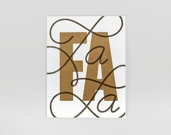 Fa La La Letterpress Holiday Card
