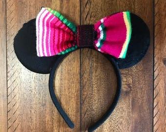 Minnie Mouse Mexican Serape Ears