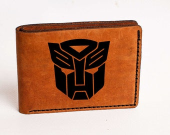 Wallet Transformers Wallet Mens Leather Wallet Transformers Wallet Bifold Autobots Personalized Custom Wallet Gift Autobots wallet