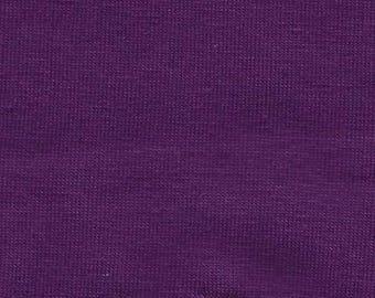 Purple Cotton Spandex Jersey Knit fabric 10oz