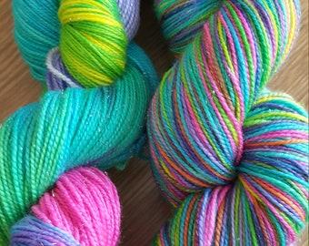 100g 4 Ply Merino/Sparkle/Nylon Sock Yarn - 14 Sparkling Unicorns!
